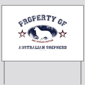Australian Shepherd Yard Sign